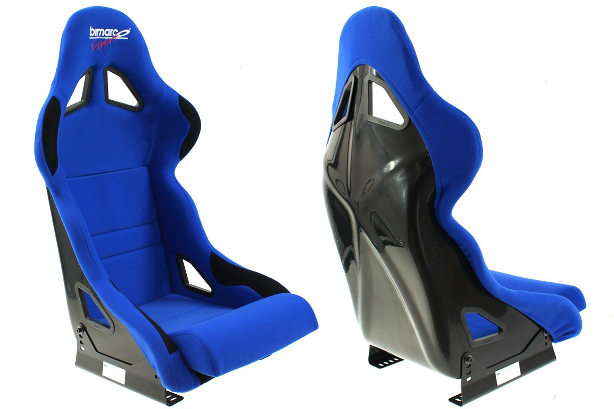 Fotel Sportowy Bimarco Expert II Welur Blue/Black FIA - GRUBYGARAGE - Sklep Tuningowy